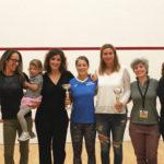 Podio Femminile Torneo Elite Roma Squash